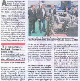 BOMBARDIER a choisi SOGEMA et HOVART comme partenaire pour rénover le tramway lillois.