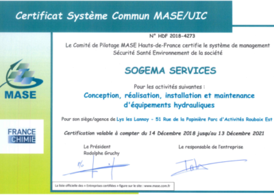 certification MASE UIC 2018