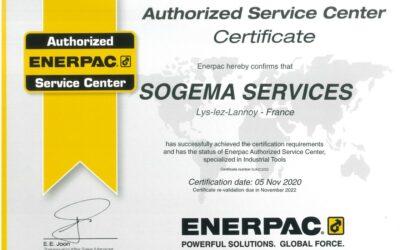 Notre certification Enerpac
